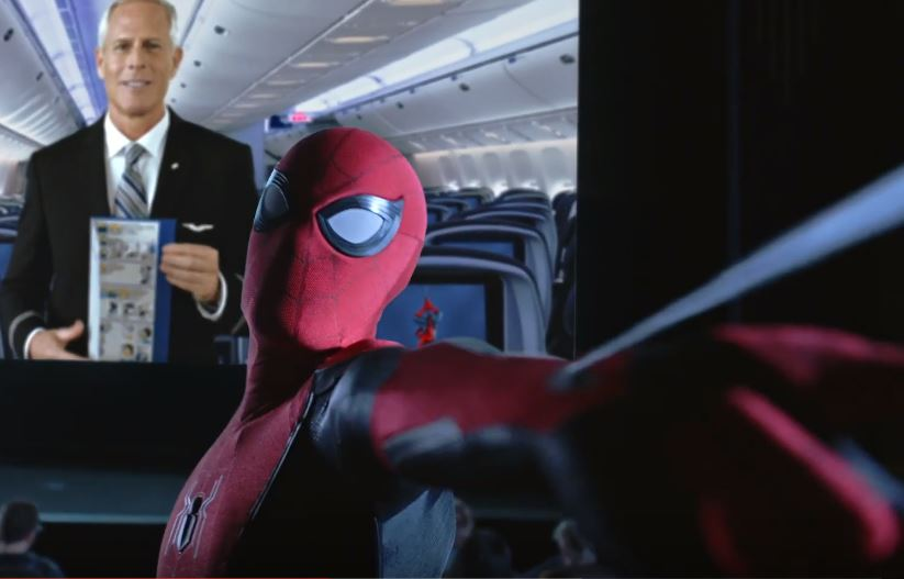 Spider-Man stars in United safety video