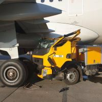 TRUCK CRASHES INTO AIRBUS A321