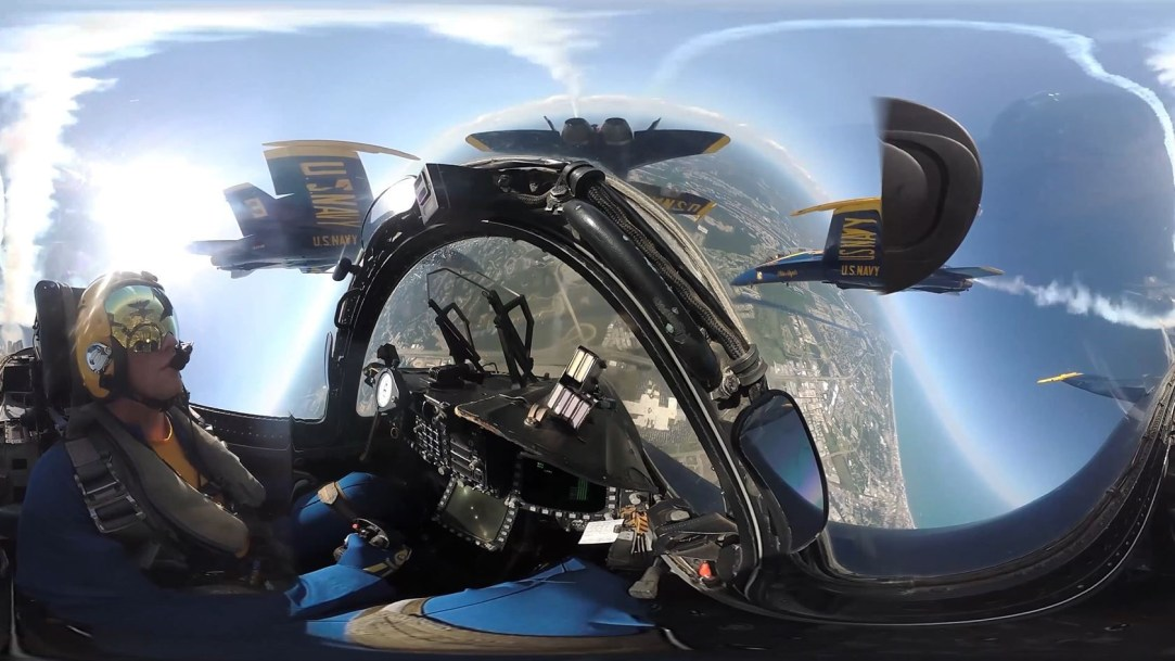 US Navy Blue Angels in 360 view