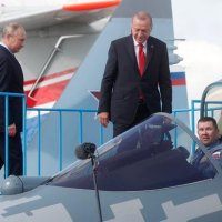 PUTIN SHOWS ERDOGAN SECRET COCKPIT OF RUSSIA'S BRAND NEW SU-57 STEALTH FIGHTER AT MAKS 2019