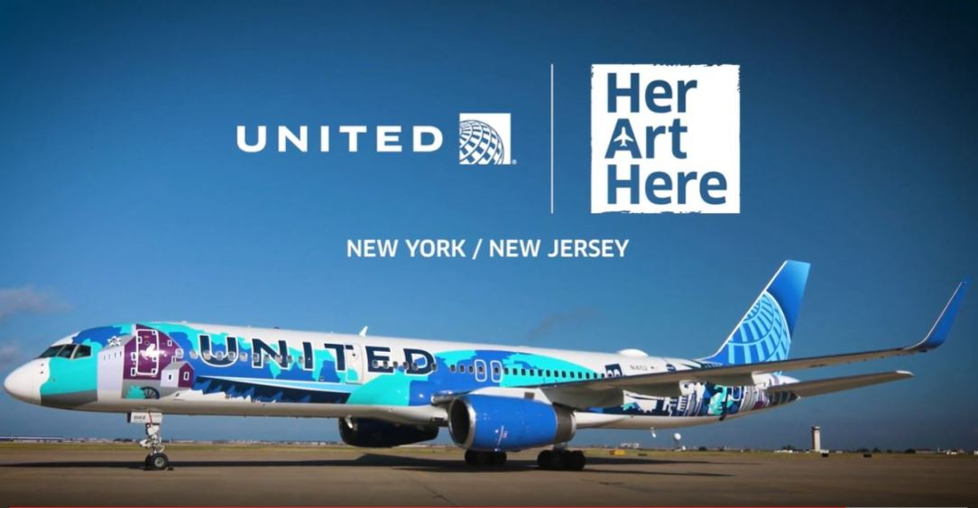 United B757 'Her Art Here' Livery - © United