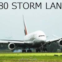 VIDEO - EMIRATES A380 IMPRESSIVE STORM LANDING AT AMSTERDAM AIRPORT