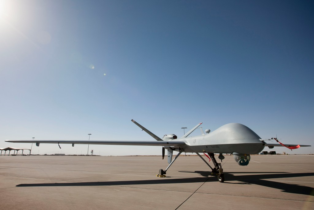 A MQ-9 Reaper at Holloman AFB