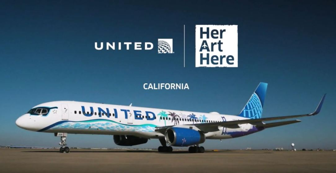 United Boeing 757 - Her Art Here 'California'