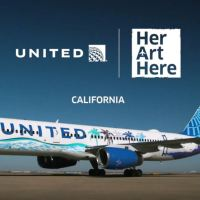 UNITED'S CALIFORNIA 'HER ART HERE' THEMED LIVERY TAKES FLIGHT