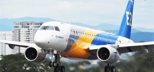 Embraer E175 E-2 first flight