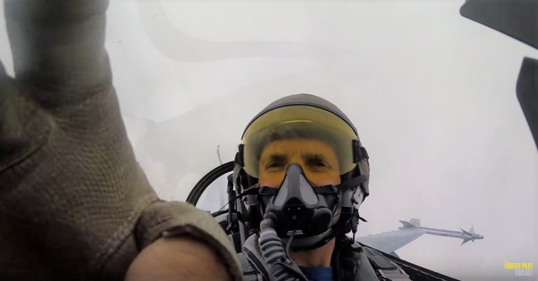 U.S. Navy F-16 Cloud Selfie