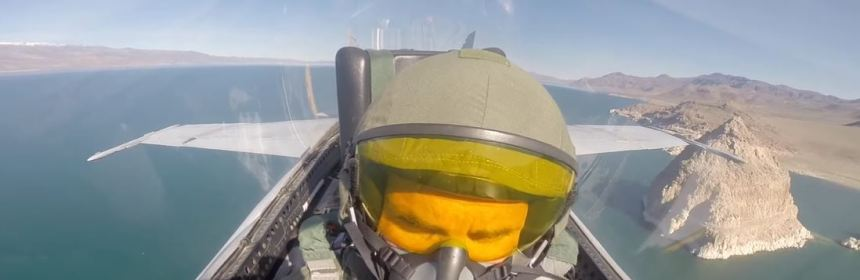 Jetskiing in an F-18