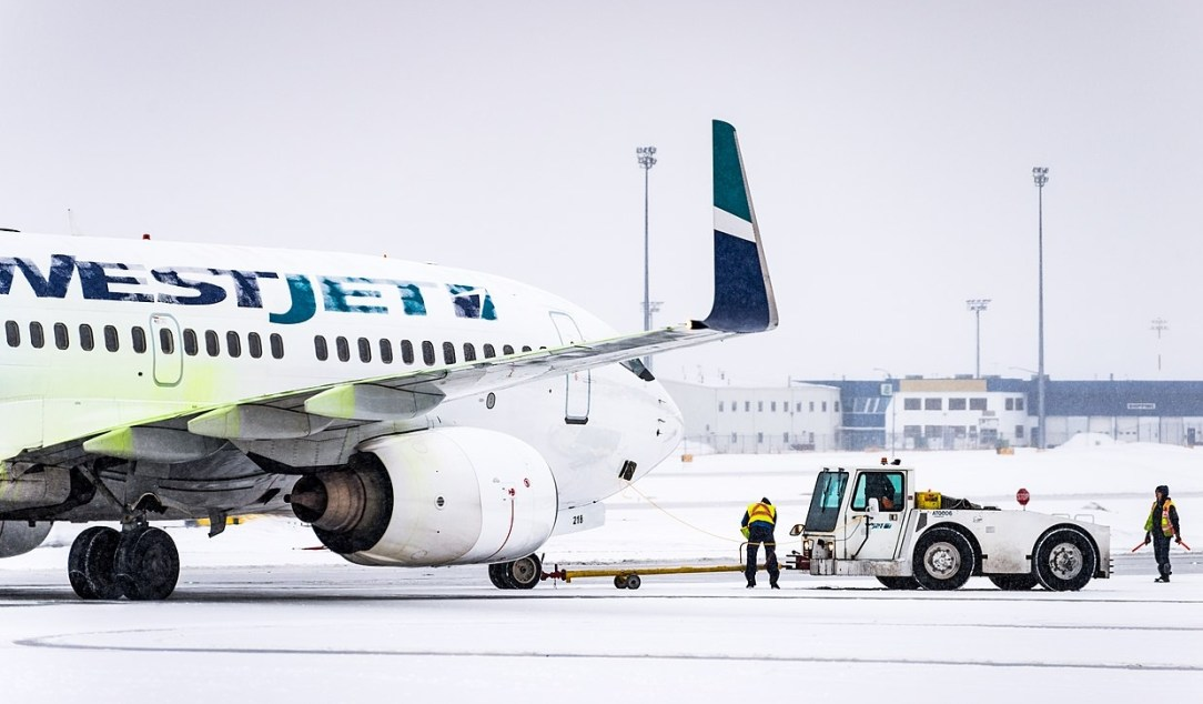 WestJet B737 skidded off runway at Halifax Airport
