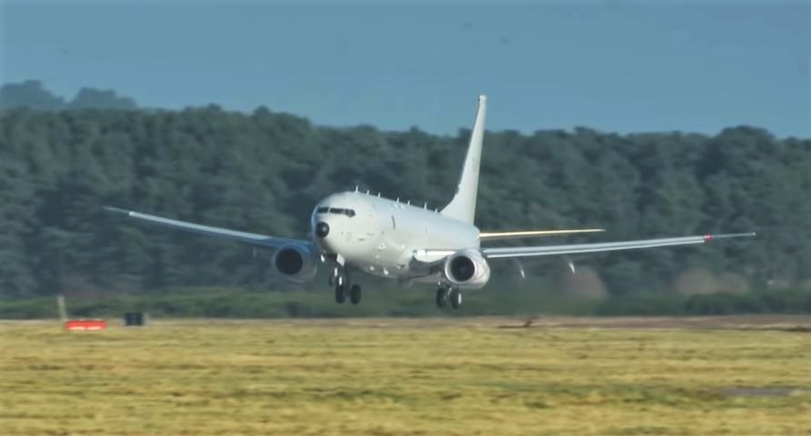 RAF first P-8 Poseidon has arrived in Scotland