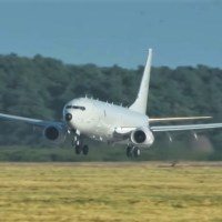 FIRST RAF P-8A POSEIDON LANDS IN THE UK