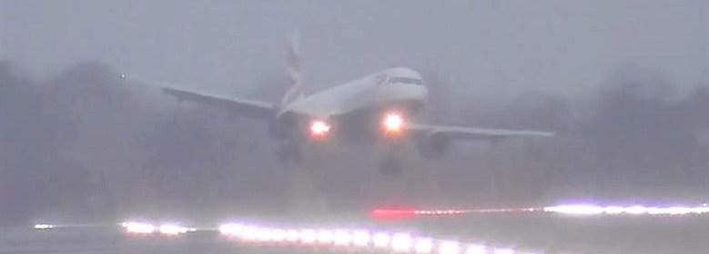 Storm Dennis at London Heathrow