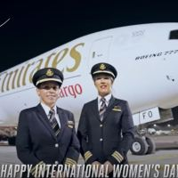 FEMALE PILOTS FLY EMIRATES SKYCARGO BOEING 777 FREIGHTER TO 4 CONTINENTS TO MARK INTERNATIONAL WOMEN'S DAY