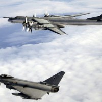 RAF TYPHOON FIGHTER JETS WERE SCRAMBLED TO INTERCEPT RUSSIAN TU-142 APPROACHING EUROPEAN AIRSPACE