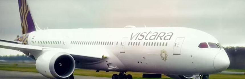 Vistara has taken delivery of its first B787-9 Dreamliner