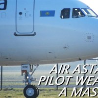VIDEO - AIR ASTANA PILOT WEARS MASK DURING FLIGHT