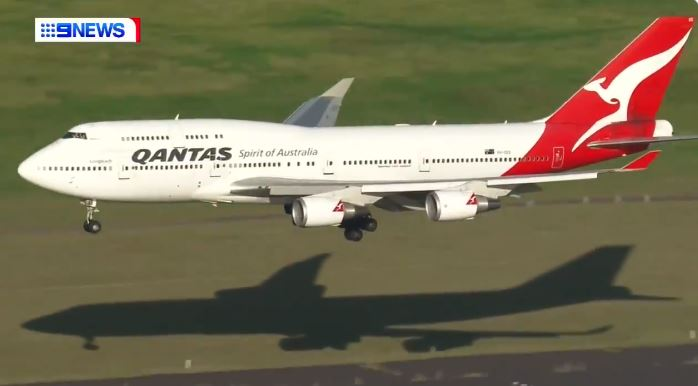 Last Flight of Qantas Boeing 747
