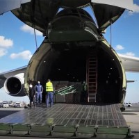 VIDEO - RUSSIAN AIR FORCE AN-124 CARGO PLANE LANDS IN NEW YORK CITY WITH MEDICAL EQUIPMENT TO AID IN FIGHT AGAINST CORONAVIRUS PANDEMIC
