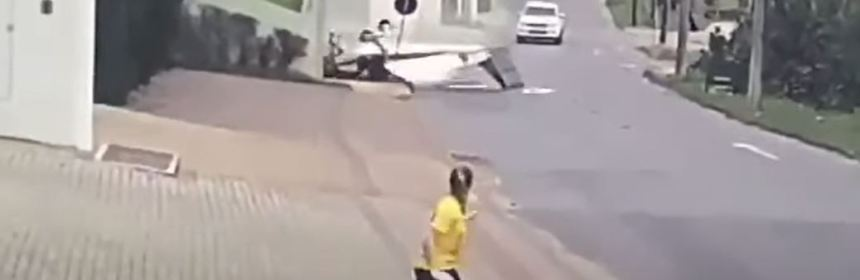 Small aircraft crashes onto residential street in Brazil