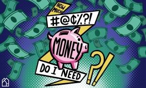 pop art illustration of a piggy bank and dollar bills