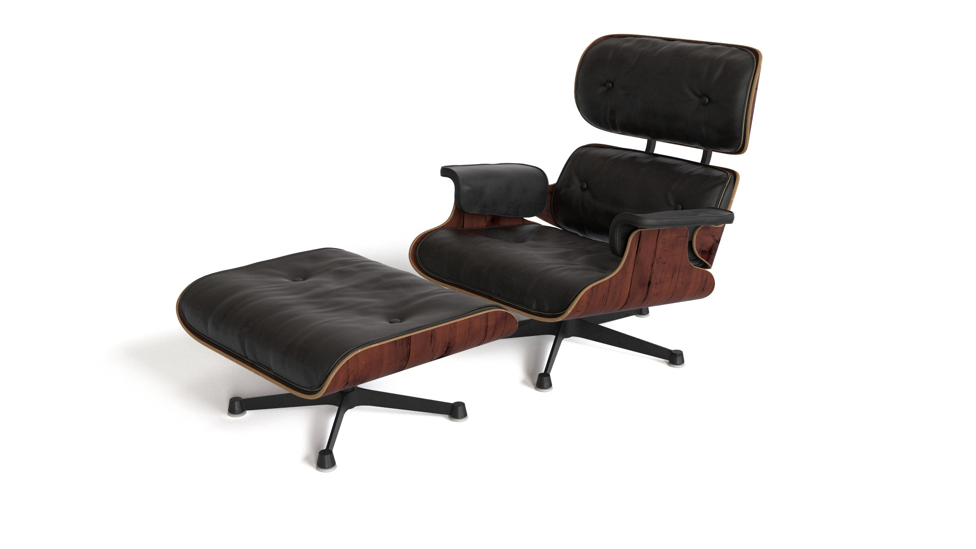 modern plastic chair gold covers for sale eames lounge with ottoman | flyingarchitecture