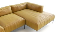 Yellow leather sofa | FlyingArchitecture