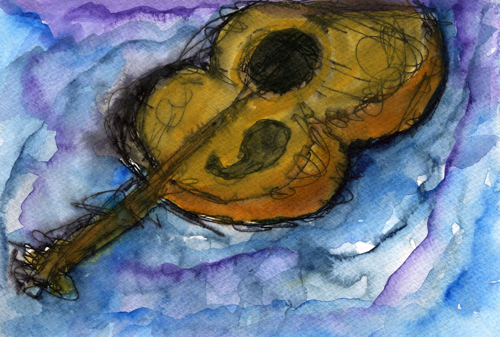 Floating Guitar (SOLD)