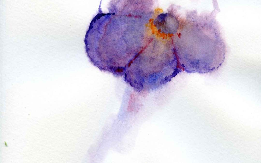 Purple Flower – Daily painting #582 (SOLD)