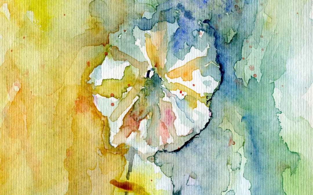 Hollyhock – Daily Painting #585