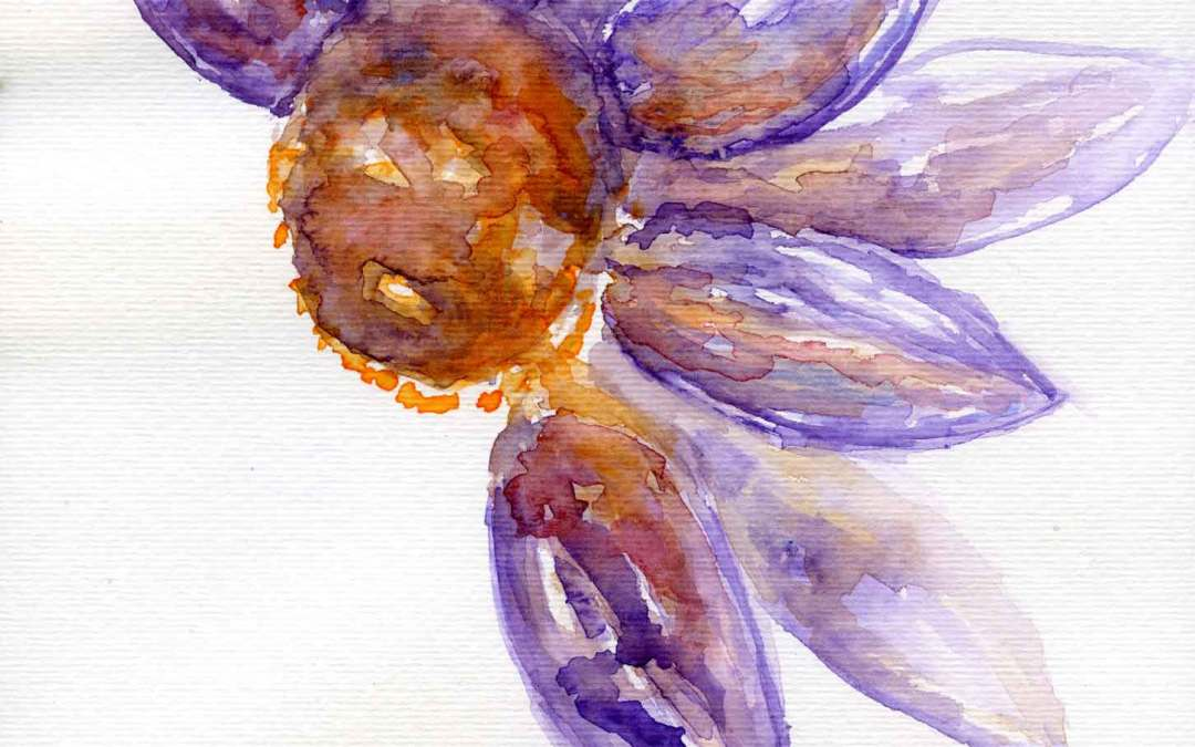 Purple Flower – Daily painting #616