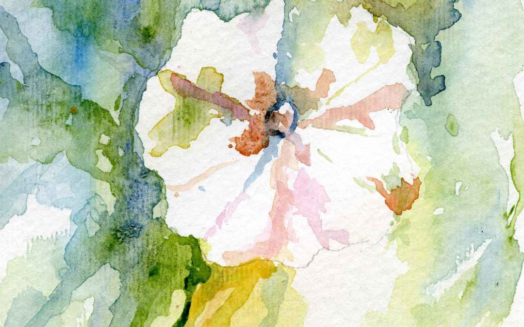 Hollyhock Series #2 – Daily painting #629 (SOLD)