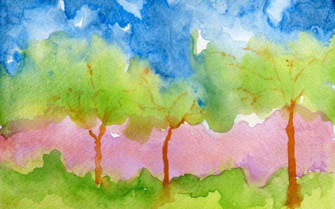 Green Trees – Daily Painting #672