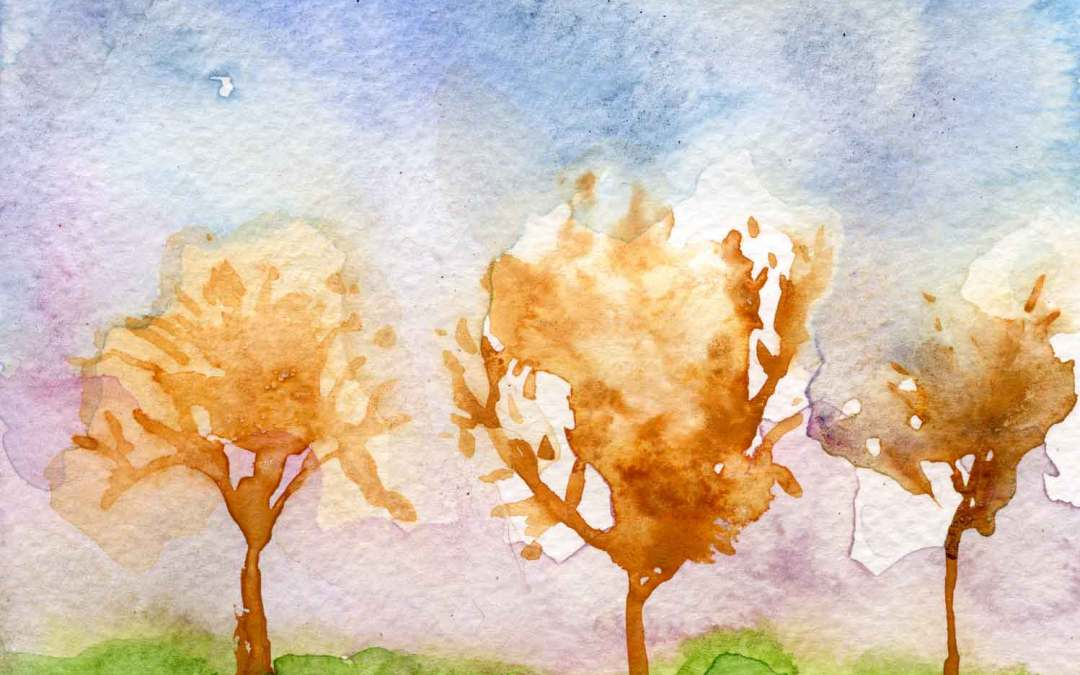 Trees and sky – Daily painting #664
