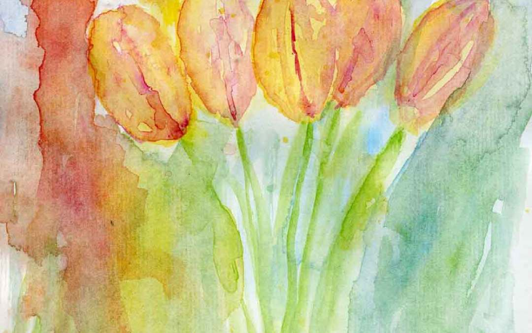 Tulips #4 – Daily painting #714 (SOLD)