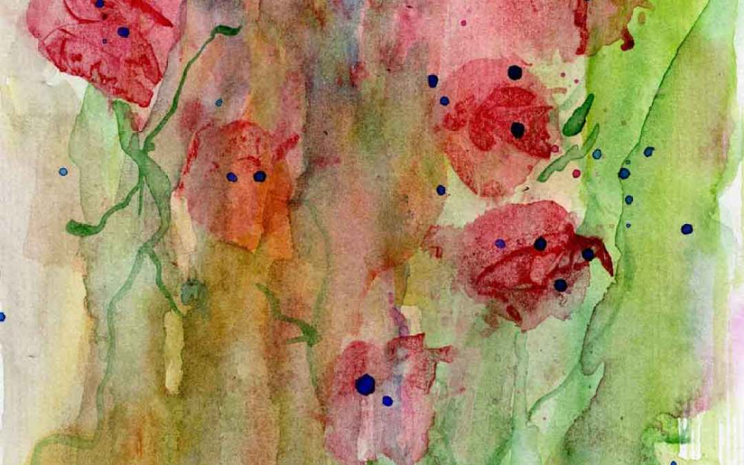 Red Flowers – Daily painting #742 (SOLD)