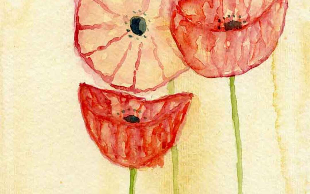 Three Poppies #3 – Daily painting #817 (SOLD)
