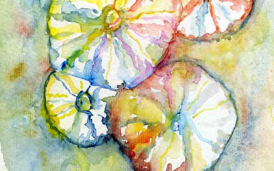 Hollyhock flower #27 – Daily painting #818