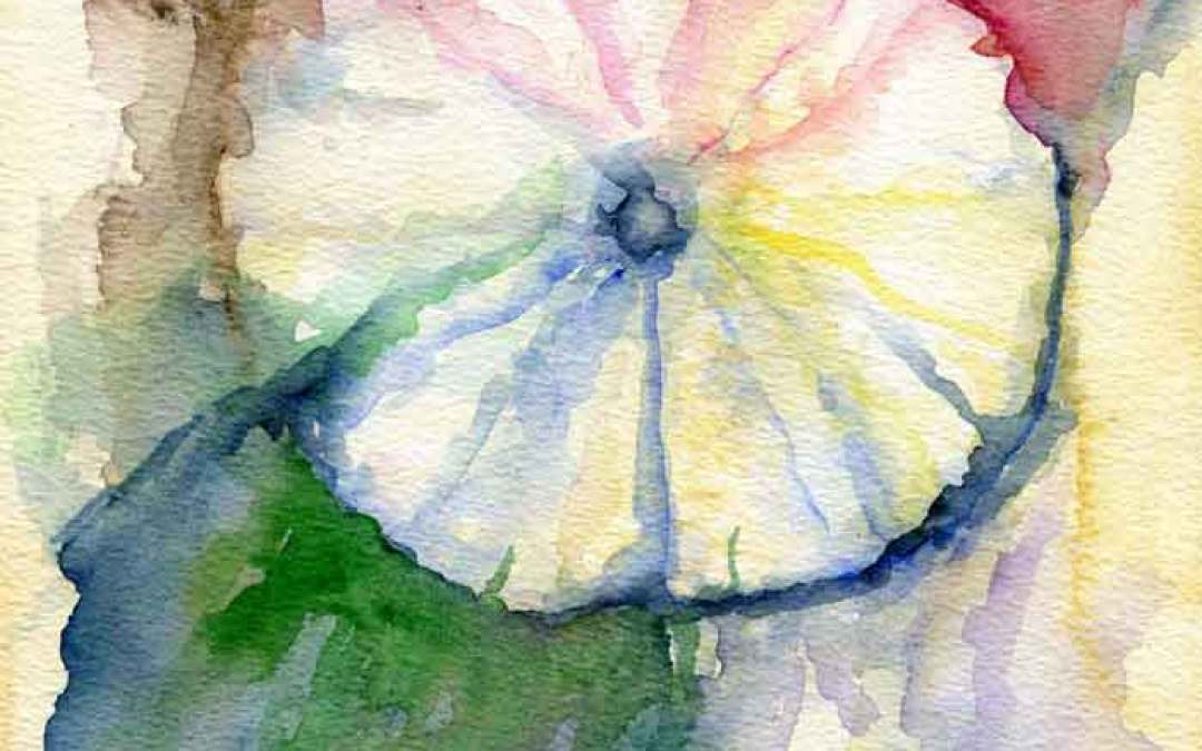 Hollyhock Flower #29 – Daily painting #829