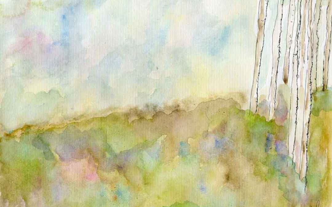 Bluebells woods // Landcape – Daily Painting #832