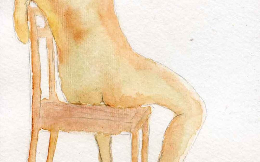 Sitting nude – Daily painting #896
