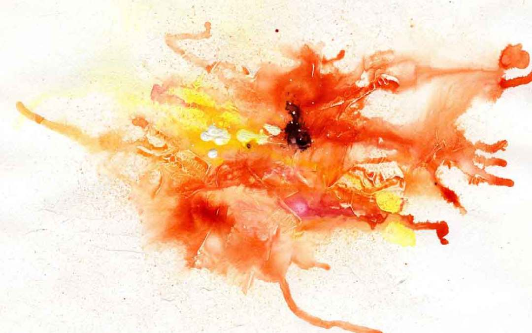 Orange abstract – Daily painting #953