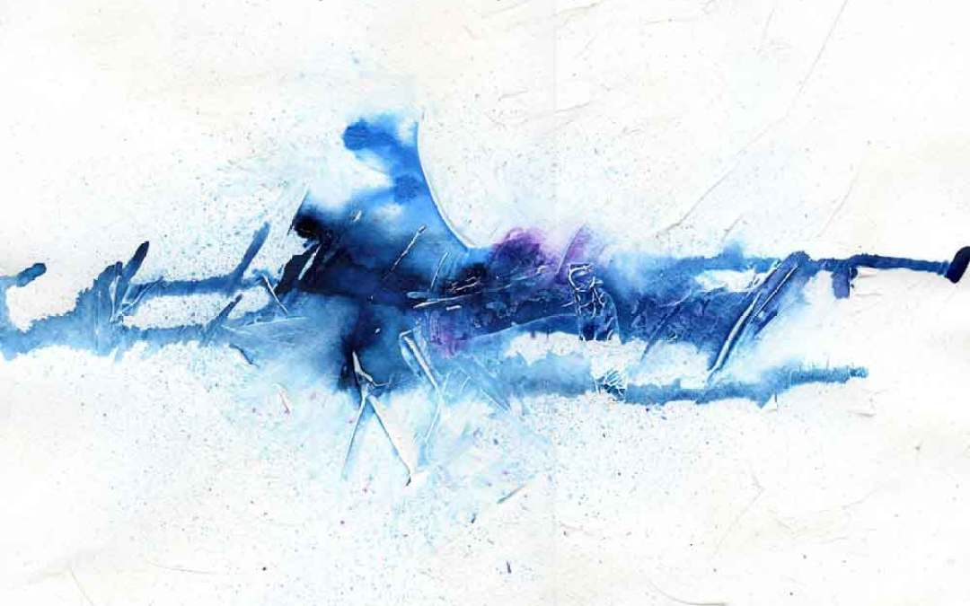 Blue Abstract – Daily painting #954
