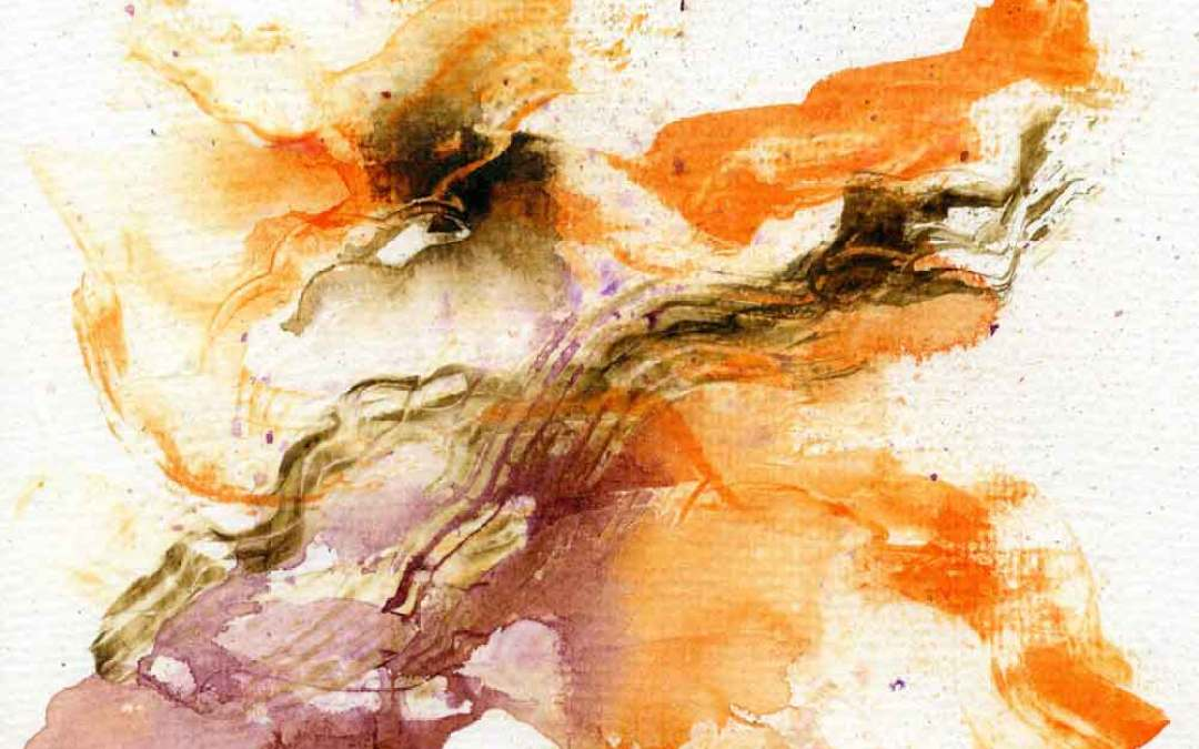 Orange, brown and purple abstract – Daily painting #986