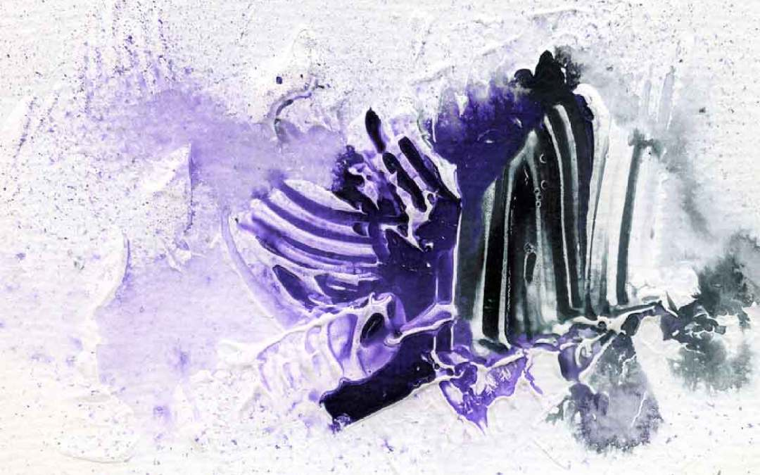 Purple and black abstract – Daily painting #1022  (SOLD)