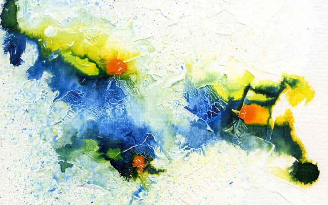 Yellow and blue abstract – Daily painting #1060 (SOLD)