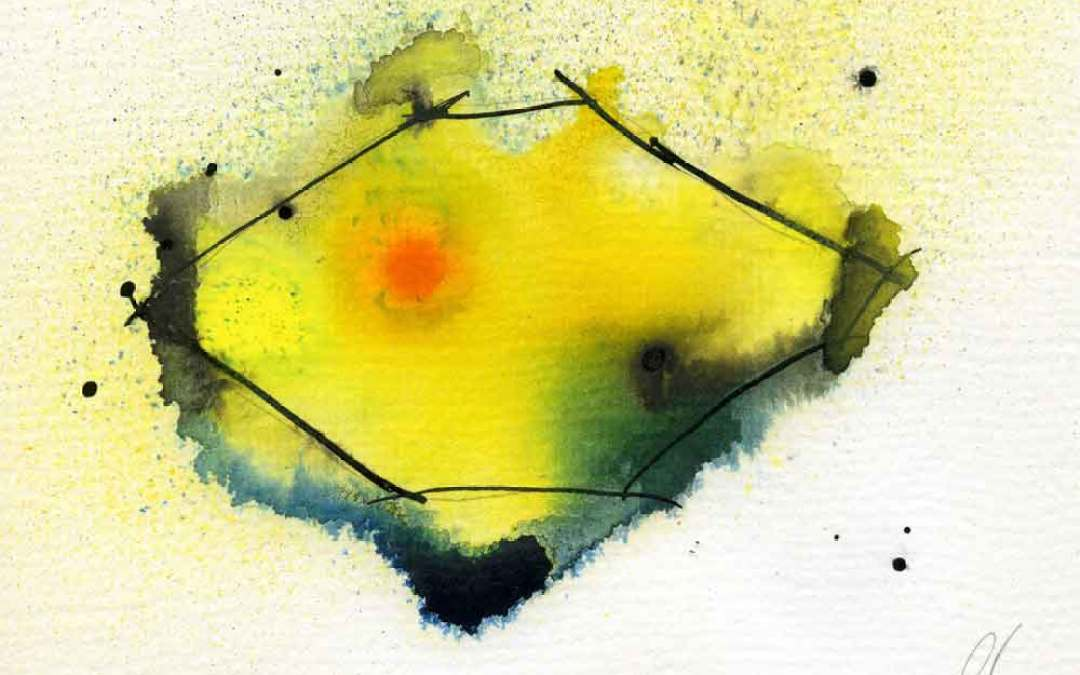 Lemon Abstract -Daily Painting #1096