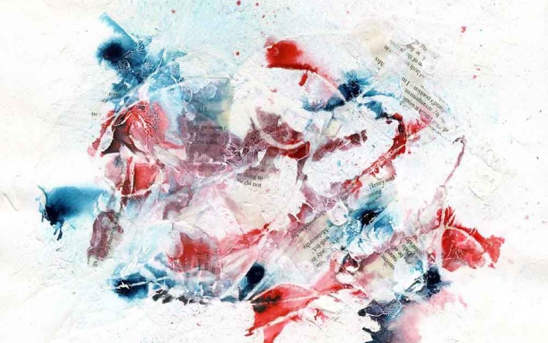 Red and blue abstract – Daily painting #1137 (SOLD)