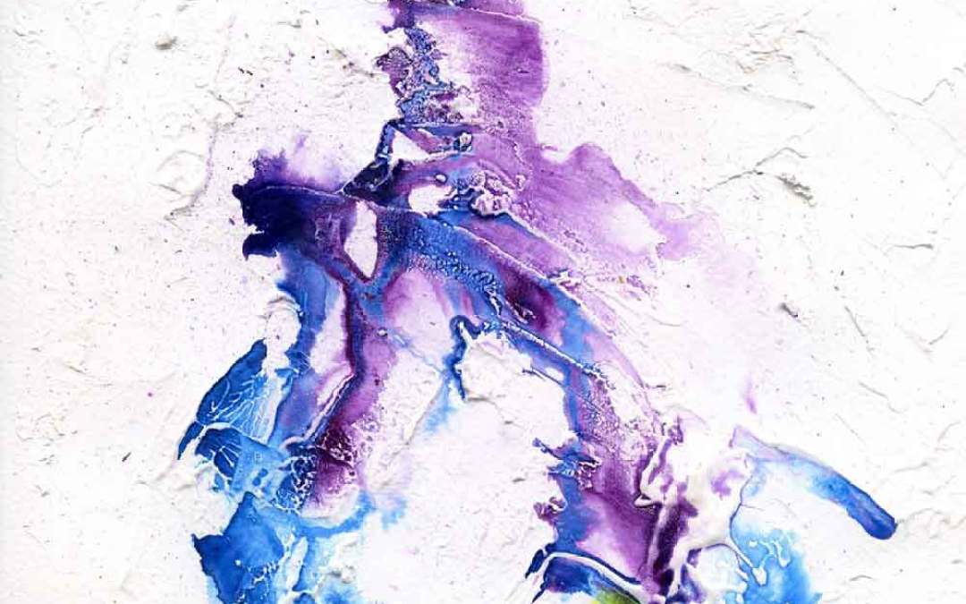 Blue and purple flow – Daily painting #1143
