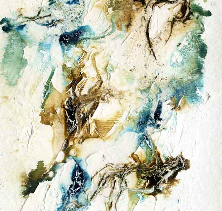 Brown and blue abstract – Daily painting #1146