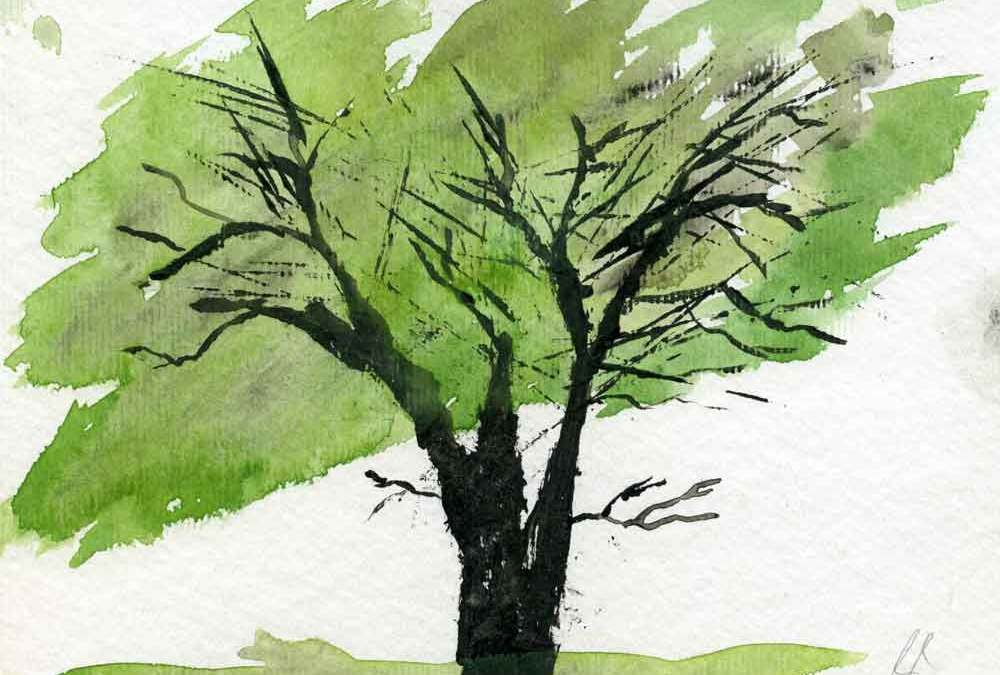 Green tree – Daily painting #1154